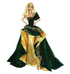 "Robert Best - Barbie ""Holiday 2011"" Print"