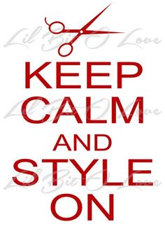 Keep Calm and Style on With Scissors Vinyl Decal Sticker for Auto Car   LilBitOLove - Housewares on ArtFire