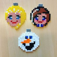 Frozen Christmas baubles hama beads by rikkeebbe