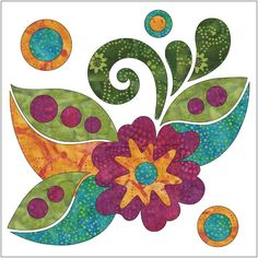 (7) Name: 'Quilting : Zen Flowers and Leaves