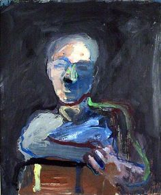 Nathan Oliveira Portrait #1 1961 oil on paper mounted on masonite 26 1/4 x 20 3/4 inches