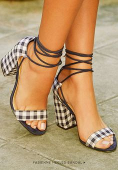 Gingham checked heels