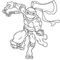 Teenage Mutant Ninja Turtles Coloring Pages - Michelangelo ...