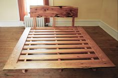 Custom Made Cedar Oak Bed