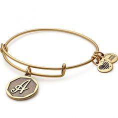 Alex and Ani Initial Charm Bangle. Personalize your jewelry with initials. Choose your own or give a personal gift to someone you love. Each charm is beautifully stamped with script letters creating an elegant and classic look. Alex And Ani Bracelets, Cute Bracelets, Bangle Bracelets, Cute Jewelry, Jewelry Shop, Jewelry Accessories, Jewelry Ideas, Initial Bracelet, Gold Bangles