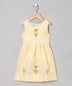 Yellow Sunflower Linen Dress - Infant, Toddler & Girls | Daily deals for moms, babies and kids.  http://www.zulily.com