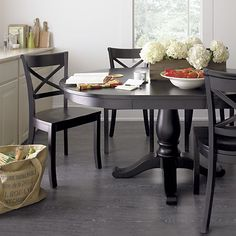 Avalon 45 Black Extension Dining Table In Dining Tables | Crate And Barrel