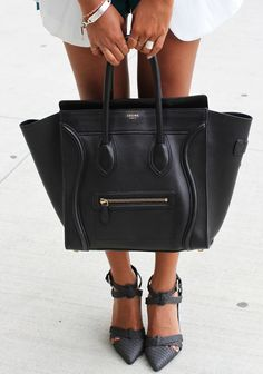 Céline bag, black/white
