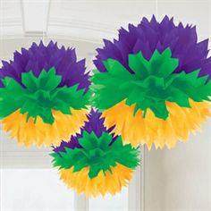 Mardi Gras Fluffy Decorations from Windy City Novelties