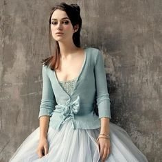 Keira Knightley is a tutu natural. Not my photo, obviously!, but I am often asked for this look. I now have the tulle color :) Keira Knightley, Keira Christina Knightley, Mode Chic, Mode Style, Blue Wedding Dresses, Blue Dresses, Wedding Blue, Party Dresses, Wedding Gowns