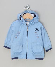Blue Hooded Jacket - Infant & Toddler by Hust