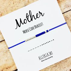 Mother Morse Code Bracelet  Mom Mother-In-Law by AllyriaSky