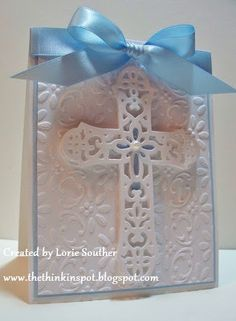 Lorie Souther: The ThINKin Spot for CottageBLOG: Baby Boy Baptism - 4/15/11 (Cottage Cutz: Ornate Cross)  (Pin#1: Easter: Religious.  Pin+: Religious Occ...)