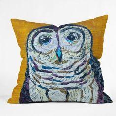 Deny Designs Elizabeth St Hilaire Nelson Hoot 2 Throw Pillow, 16 x 16 Owl Home Decor, Baby Room Decor, Blue And Yellow Living Room, Yellow Throw Pillows, Accent Pillows, Pillow Fight, Pillow Talk, Owl Pillow, Modern Pillows
