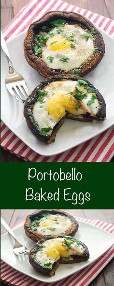 Portobello Baked Eggs