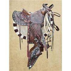 Silver-mounted saddle by Edward Bohlin