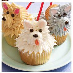 Cute cup cake idea :) DOGGGGGYYYYYYYY
