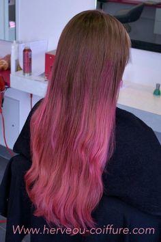 Carr plongeant et effet couleur blond et rose coiffure for Tie and dye prix salon