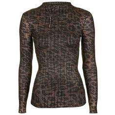 TANYA TAYLOR Cutout Striped Turtleneck Sweater. #tanyataylor ...