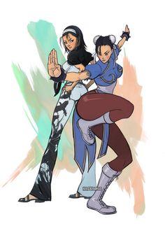 Chun-li and jun kazama
