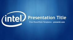 Battery life powerpoint template powerpoint templates pinterest the free intel powerpoint template has a blue background with an intel logo for presentations about toneelgroepblik Image collections