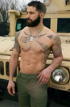 handsome tattooed guy nakeded