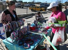 Brittanie Varena of Leander brings her Fabulous Paws creations to the Lago Vista market each week.
