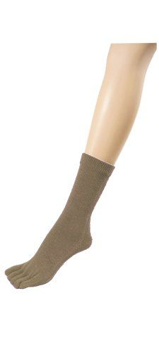 Couver Women's Taupe 5 fingers Toed Toe Socks(Length:Quarter ~ Midcalf) * Find out more about the great product at the image link.  This link participates in Amazon Service LLC Associates Program, a program designed to let participant earn advertising fees by advertising and linking to Amazon.com.