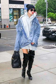 Model behavior: She had just returned to her apartment from lunch with BFF Kendall Jenner
