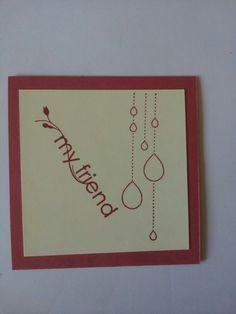 My friend - kleine einfache Karte,  Rückseite beschreibbar