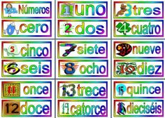 MFL Spanish Resource - Numbers in Spanish, printable posters for display