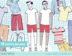 PRETEEN BOY paper doll  customize with your own photos by claudinehellmuth, $3.99