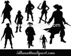 Pirate Silhouette Vector Download Pirate Man and Woman