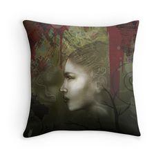'Eden: - Graffiti style fantasy' Throw Pillow by DarkForgeStudio Graffiti Styles, Supernatural, Original Art, Horror, Sci Fi, My Arts, Throw Pillows, Fantasy, Dark