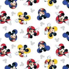 1//2 Metre Disney Mickey Mouse 100/% Cotton Teal Craft Fabric *Free P /& P*