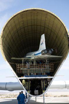 Guppys massive volume- swallows NASA aircraft whole.
