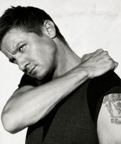 My new man crush.... he's a bit funny looking but cute and rugged at the same time ...Jeremy Renner
