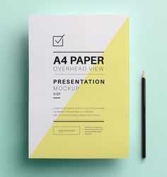 Pure » A4 Paper Mockup Vol.1