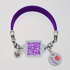 "[[description]] [[start tab]] About Save $10 when you purchase this beautiful Epilepsy ribbon-color inspired Squid bracelet set. Set includes silicone bracelet, ""Purple People Eater"" Squid Square and"