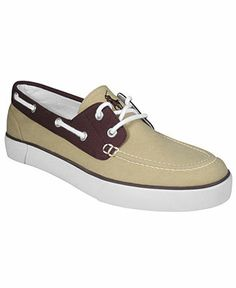 Yes to boat shoes.   Polo Ralph Lauren Shoes, Lander Canvas Boat Sneakers - Boat Shoes.