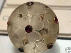 Early RARE French Glass Button | eBay
