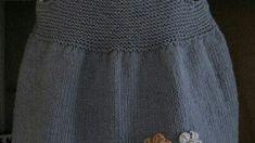 Düz Olarak Örülen Çiçek Süslemeli Kolay Çocuk Jile Yapımı. 2 .3 yaş – Örgü resimli anlatımlı örgü sitesi Baby Knitting Patterns, Skirts, Fashion, Moda, Fashion Styles, Skirt, Fashion Illustrations, Gowns