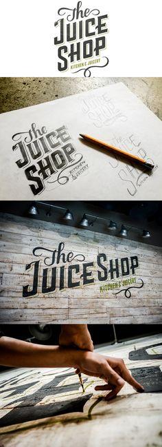 The Juice Shop by No Entry Design via betype