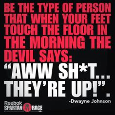 -Dwayne 'The Rock' Johnson The Rock Dwayne Johnson, Rock Johnson, Dwayne The Rock, Reebok Spartan Race, Spartan Race Training, Spartan Sprint, Spartan Workout, Fitness Quotes, Fitness Motivation