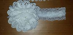 Check out this item in my Etsy shop https://www.etsy.com/listing/227092825/white-lace-flower-headband-3-6mo