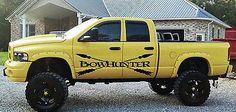Bow Hunter Buck Deer Hunting Truck Car vinyl graphics SUV will fit any car tr021