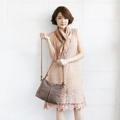 Cross-body and Shoulder Midi Skirt Bags Size M Hand Woven and Botanical Dyed Cotton Brown Color-www.tanbagshop.com