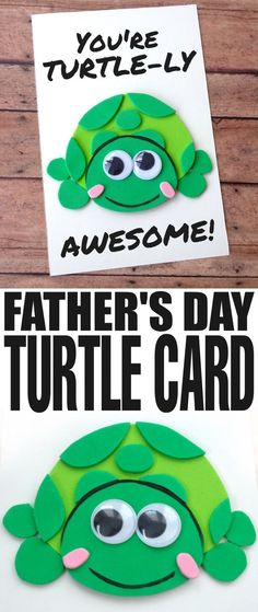 Father's Day is coming up and while it can be difficult to figure out what colour of tie to get for Dad for Father's Day, a hand made card is always going to be a hit. This DIY Father's Day Turtle Card is the perfect way to show Dad that he is TURTLE-LY AWESOME!