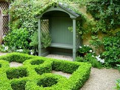 Exterior Super Ideas For Garden Bench With Roof   Decor10