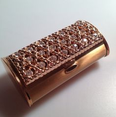 1950s Vintage CIGARETTE CASE Gold Plate and Rhinestones DEADSTOCK Never Used